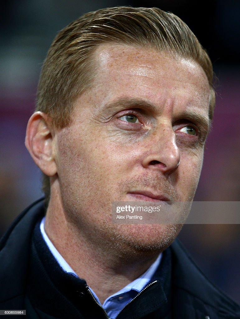 Garry Monk, Manager of Leeds United looks on the Sky Bet Championship match between Aston Villa and Leeds United at Villa Park on December 29, 2016 in Birmingham, England.