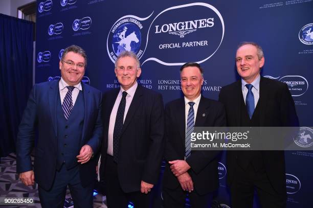 Garry O'Gorman Phil Smith Nigel Gray and Dominic Gardiner attend the Longines World's Best Racehorse Longines World's Best Horserace ceremony hosted...
