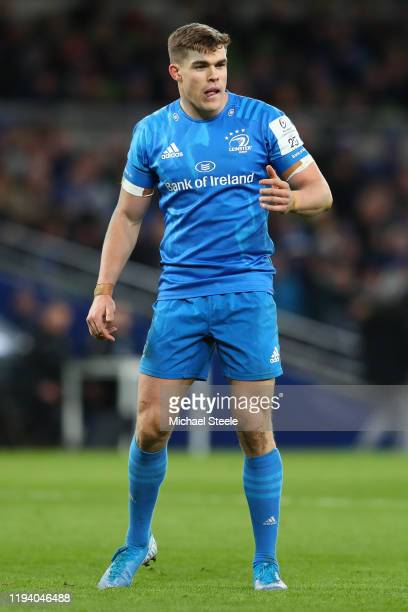 Garry Ringrose of Leinster during the Heineken Champions Cup Round 4 match between Leinster Rugby and Northampton Saints at Aviva Stadium on December...