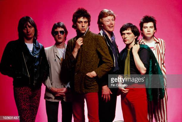 Garry Roberts Gerry Cott Bob Geldof Simon Crowe Pete Briquette and Johnnie Fingers of the Boomtown Rats in April 1978