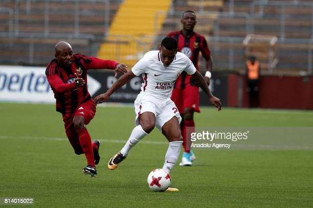 Garry Rodrigues of Galatasaray in action during the UEFA Europa League 2nd Qualifying Round soccer match between Galatasaray and Ostersund FK at...