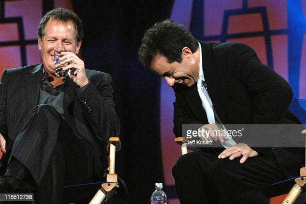 Garry Shandling and Jerry Seinfeld during The Comedy Festival Honoring Jerry Seinfeld Show at Palace Ballroom at Caesars Palace in Las Vegas Nevada...