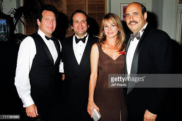 Garry Shandling Linda Doucett and Jeffrey Tambor during 1993 Emmy Awards Governors Ball Party in Los Angeles California