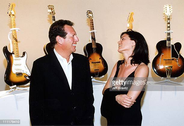 Garry Shandling Linda Fiorentino during 1999 Eric Clapton concert Giorgio Armani fashion show in Los Angeles California United States