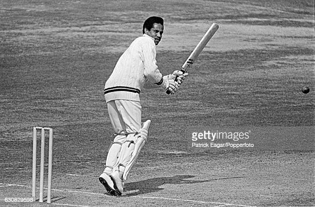 Garry Sobers batting for West Indies during his innings of 150 in the 3rd Test match between England and West Indies at Lord's Cricket Ground,...