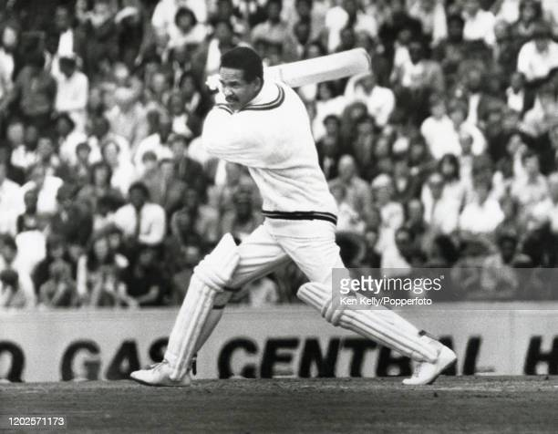 Garry Sobers batting for West Indies during his innings of 51 runs in the 1st Test match between England and West Indies at The Oval, London, 30th...