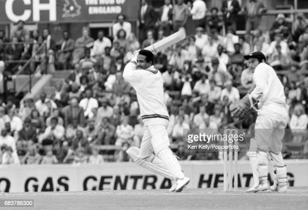 Garry Sobers batting for West Indies during the 1st Test match between England and West Indies at The Oval, London, 30th July 1973. The wicketkeeper...