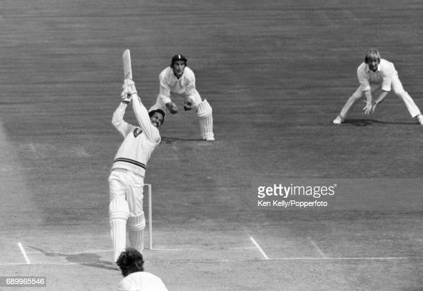 Garry Sobers batting for West Indies during the 2nd Test match between England and West Indies at Edgbaston Birmingham 10th August 1973 The England...