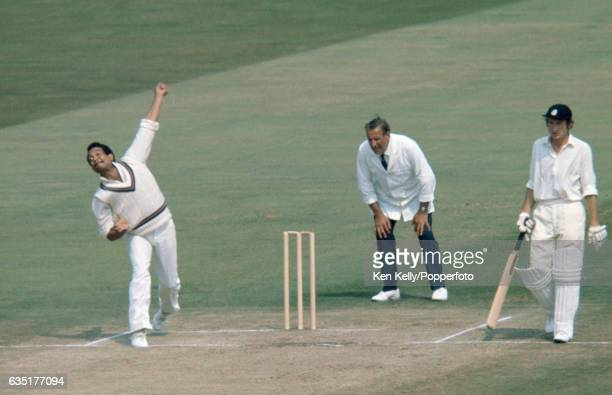 Garry Sobers bowling for the West Indies during the 2nd Test match between England and West Indies at Edgbaston, Birmingham, 13th August 1973. The...