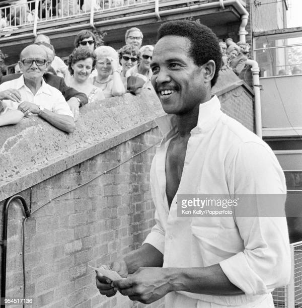 Garry Sobers of Nottinghamshire after the John Player League match between Warwickshire and Nottinghamshire at Edgbaston, Birmingham, 11th July 1971....