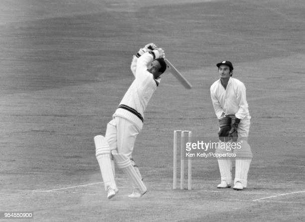 Garry Sobers of West indies batting for Rest of the World XI during his innings of 80 runs in the 3rd match of the fivematch series between England...