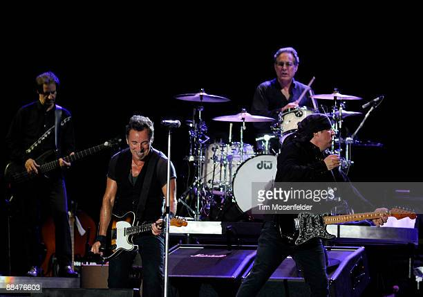 Garry Tallent, Bruce Springsteen, Max Weinberg and Steven Van Zandt of Bruce Springsteen & The E Street Band perform as part of Day Three of the 2009...