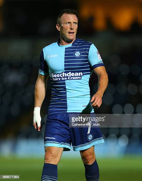Garry Thompson of Wycombe Wanderers during the EFL Cup match between Wycombe Wanderers and Bristol City at Adams Park on August 8 2016 in High...