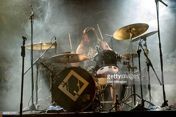 Garteh Lawrence of The Blackout performs on stage at O2 Academy Leicester on January 29 2014 in Leicester United Kingdom