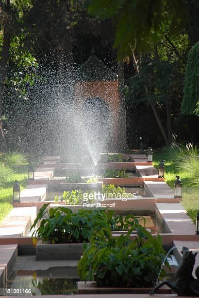 Garten der Villa von Henriette von Bohlen und Halbach Homestory Villa Bled Targui Marrakesch Marokko Nordafrika Afrika Residenz Palast Springbrunnen...