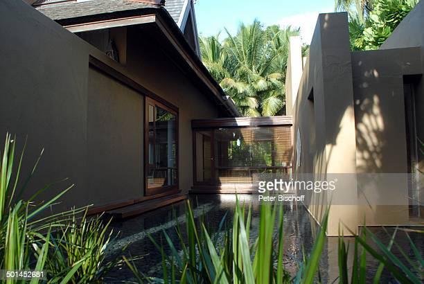 Garten mit Künstlich angelegter Wassergraben Strandvilla 5SterneLuxushotel Four Seasons Insel Langkawi Malaysia Asien Hotel Reise NB DIG PNr 1836/2011