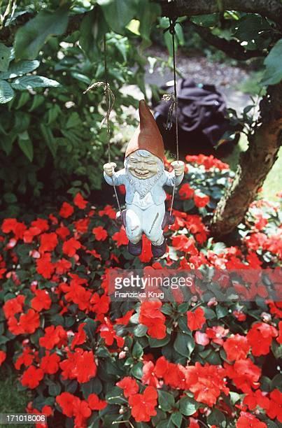 Gartenzwerg Auf Schaukel