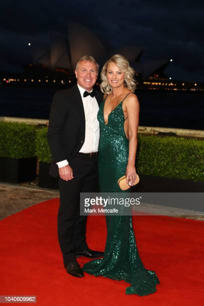 Garth Brennan and wife Rachel arrive at the 2018 Dally M Awards at Overseas Passenger Terminal on September 26 2018 in Sydney Australia