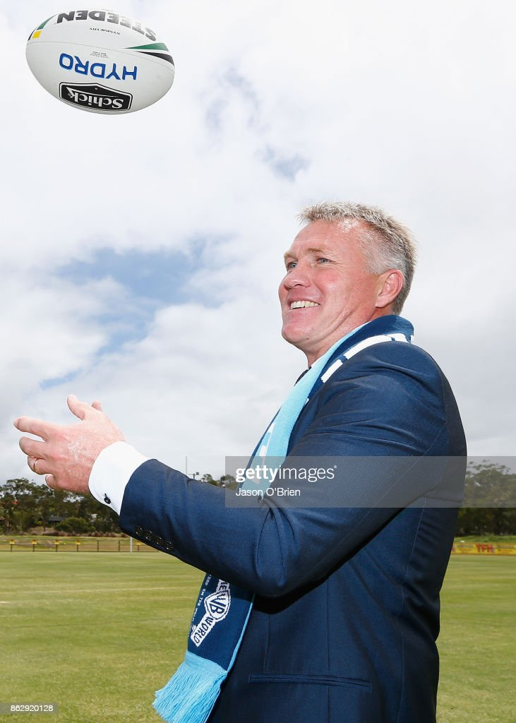 Garth Brennan poses for a photo after being announced as the new Gold Coast Titans NRL coach at Titans Centre of Excellence on October 19, 2017 in Gold Coast, Australia.