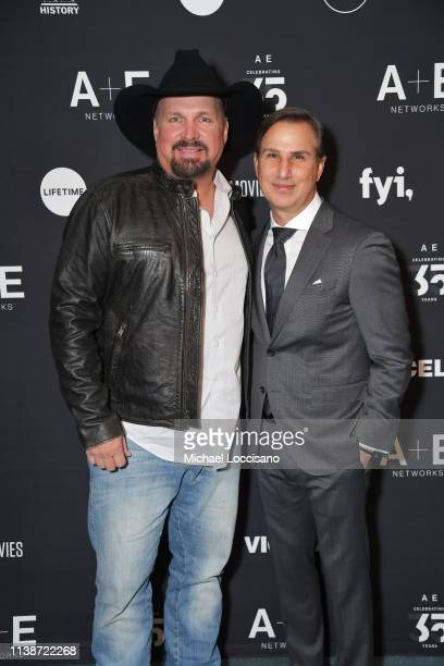 Garth Brooks and A+E Networks Group President Paul Buccieri attend 2019 A+E Networks Upfront at Jazz at Lincoln Center on March 27, 2019 in New York...