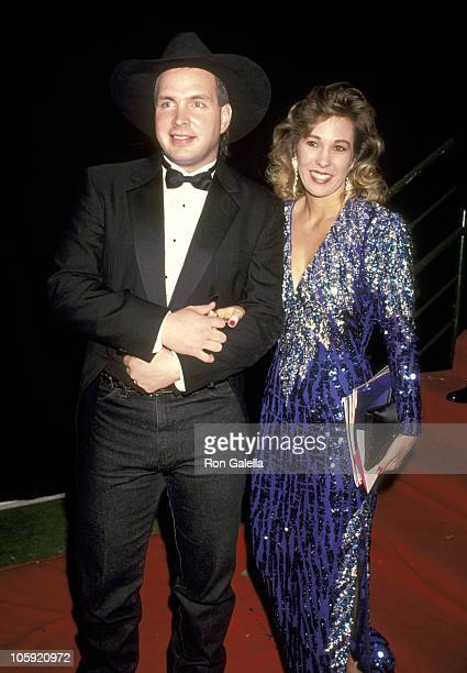 Garth Brooks and Sandy Mahl during 18th Annual American Music Awards at Shrine Auditorium in Los Angeles California United States