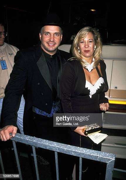 Garth Brooks and Sandy Mahl during 23rd Annual American Music Awards at Shrine Auditorium in Los Angeles California United States