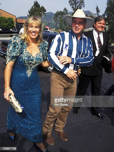 Garth Brooks and Sandy Mahl during 30th Annual Academy of Country Music Awards at Universal Amphitheatre in Universal City California United States