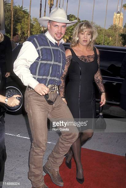 Garth Brooks and Sandy Mahl during 3rd Annual Blockbuster Entertainment Awards at The Pantages Theatre in Los Angeles California United States