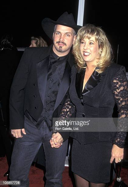 Garth Brooks and Sandy Mahl during The 23rd Annual People's Choice Awards at Santa Monica Airport in Santa Monica California United States