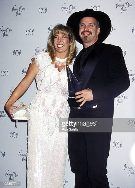 Garth Brooks and Sandy Mahl during The 24th Annual American Music Awards at Shrine Auditorium in Los Angeles California United States