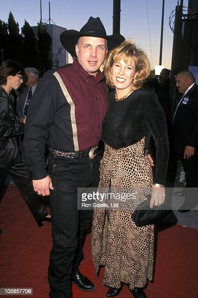 Garth Brooks and Sandy Mahl during The 4th Annual Blockbuster Awards at The Pantages Theatre in Los Angeles California United States