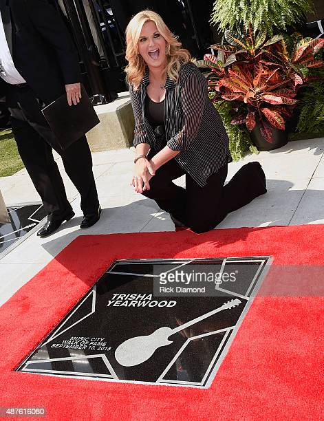 Garth Brooks and Trisha Yearwood are Inducted Into The Nashville Walk Of Fame Trisha Yearwood on her Star at the Nashville Music City Walk of Fame on...