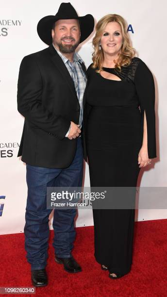 Garth Brooks and Trisha Yearwood attend MusiCares Person of the Year honoring Dolly Parton at Los Angeles Convention Center on February 8 2019 in Los...