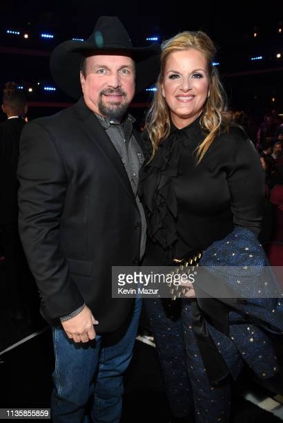 Garth Brooks and Trisha Yearwood attend the 2019 iHeartRadio Music Awards which broadcasted live on FOX at Microsoft Theater on March 14 2019 in Los...