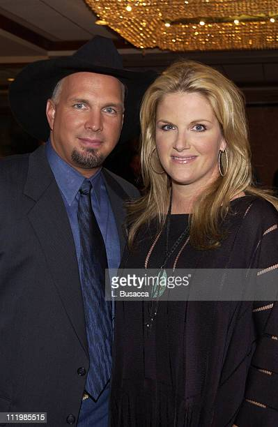 Garth Brooks and Trisha Yearwood during Songwriters Hall of Fame Awards VIP Room at Sheraton Hotel in New York City New York United States