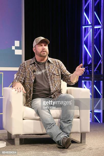 Garth Brooks gives the keynote address at the Austin Convention Center during the South By Southwest Conference and Festival on March 17 2017 in...