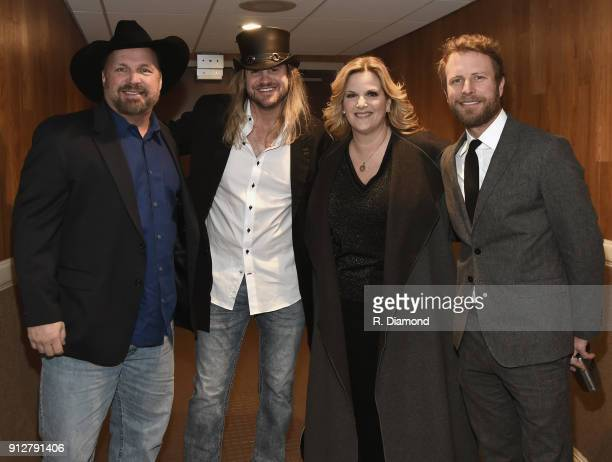 Garth Brooks Ira Dean Trisha Yearwood and Dierks Bentley attend Singer/Songwriter/Comedian Member of both The Nashville Songwriters Hall of Fame and...