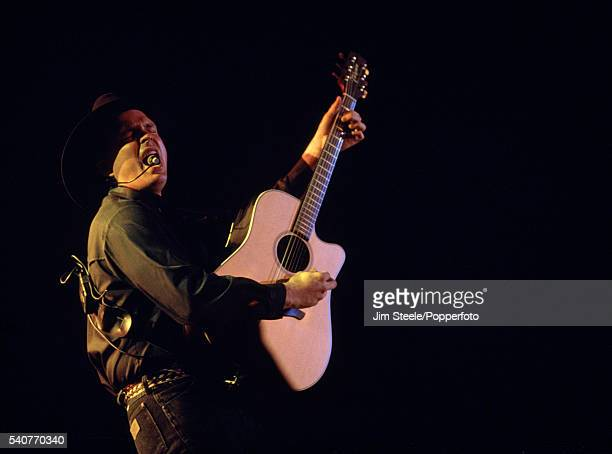 Garth Brooks performing on stage at Wembley Arena in London on the 11th April 1994