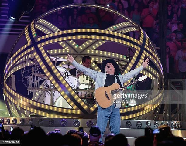 Garth Brooks performs at Legacy Arena at the BJCC on June 12 2015 in Birmingham Alabama