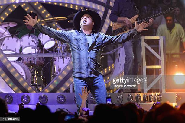 Garth Brooks performs at the Allstate Arena on September 4 2014 in Rosemont Illinois