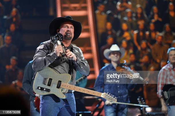 Garth Brooks performs on stage at the 2019 iHeartRadio Music Awards which broadcasted live on FOX at the Microsoft Theater on March 14 2019 in Los...