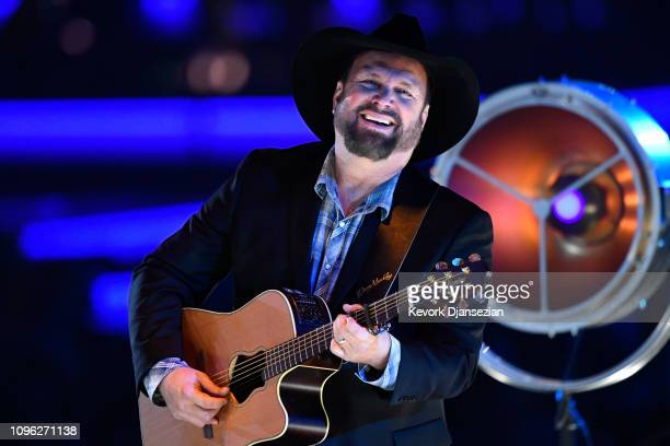 Garth Brooks performs onstage during MusiCares Person of the Year honoring Dolly Parton at Los Angeles Convention Center on February 8 2019 in Los...