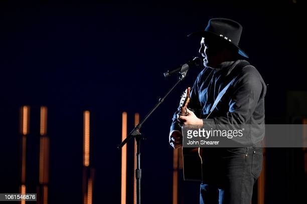 Garth Brooks performs onstage during the 52nd annual CMA Awards at the Bridgestone Arena on November 14 2018 in Nashville Tennessee