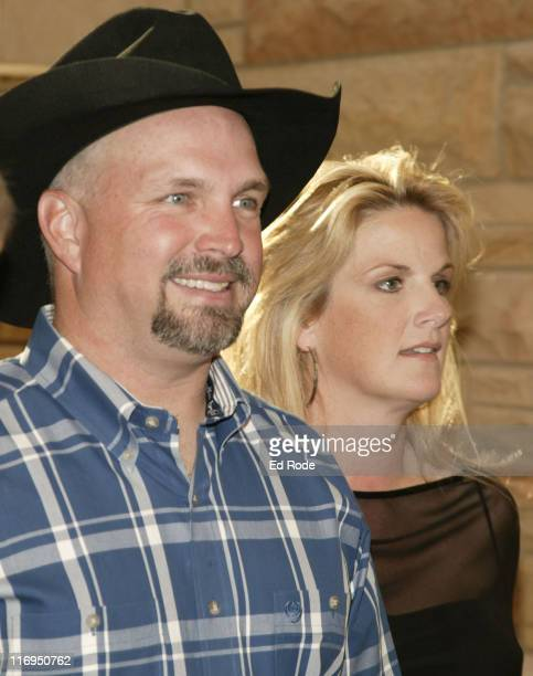Garth Brooks sits with Trisha Yearwood at the Medallion ceremony at the Country Music Hall of Fame Garth performed a song in honor of Hall of Fame...
