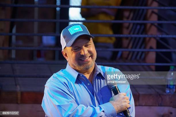 Garth Brooks speaks onstage at the HGTV Lodge during CMA Music Fest on June 8 2017 in Nashville Tennessee