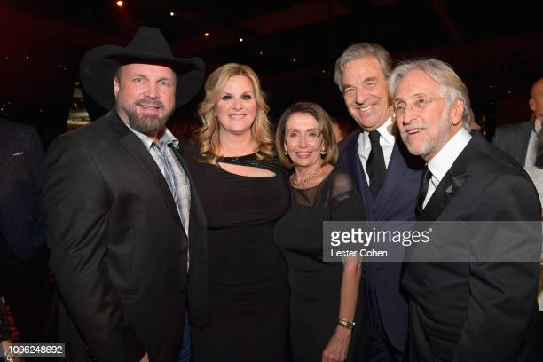 Garth Brooks Trisha Yearwood Nancy Pelosi Paul Pelosi and President/CEO of the Recording Academy and President/CEO of MusiCares Neil Portnow attend...