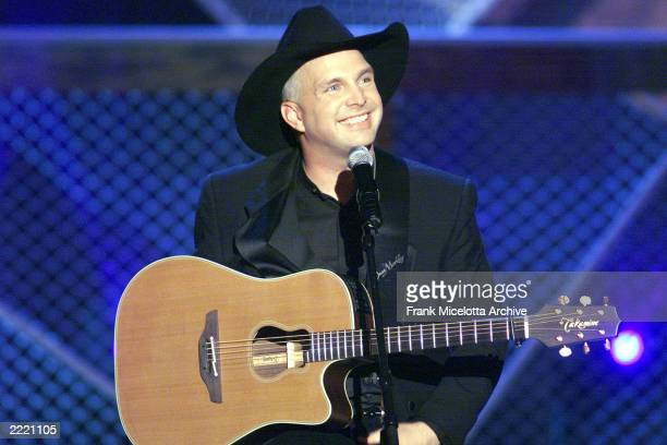 Garth Brooks winner of the Academy of Country Music's Artist of the Decade award at the 34th Annual Awards at the Universal Amphitheatre in Los...