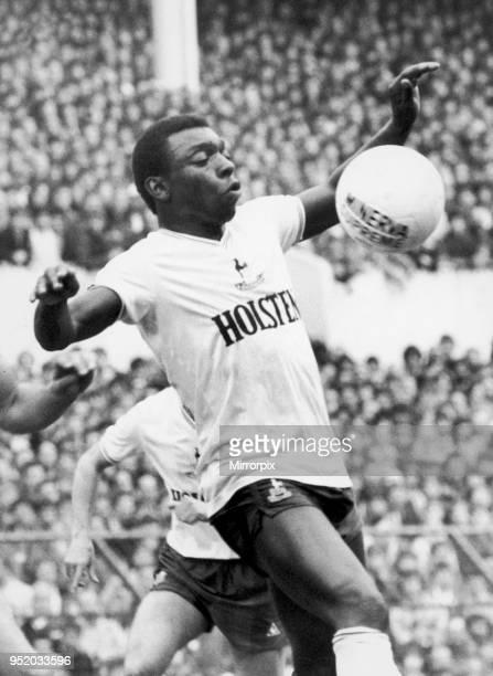 Garth Crooks of Tottenham Hotspur in action, circa 1984.