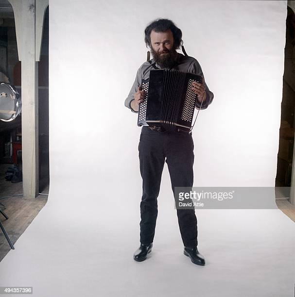Garth Hudson of the roots rock group The Band poses for a portrait in 1969 in Saugerties New York