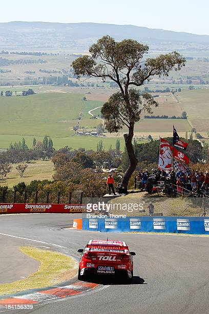 Garth Tander drives the Holden Racing Team Holden during practice for the Bathurst 1000 which is round 11 of the V8 Supercars Championship Series at...